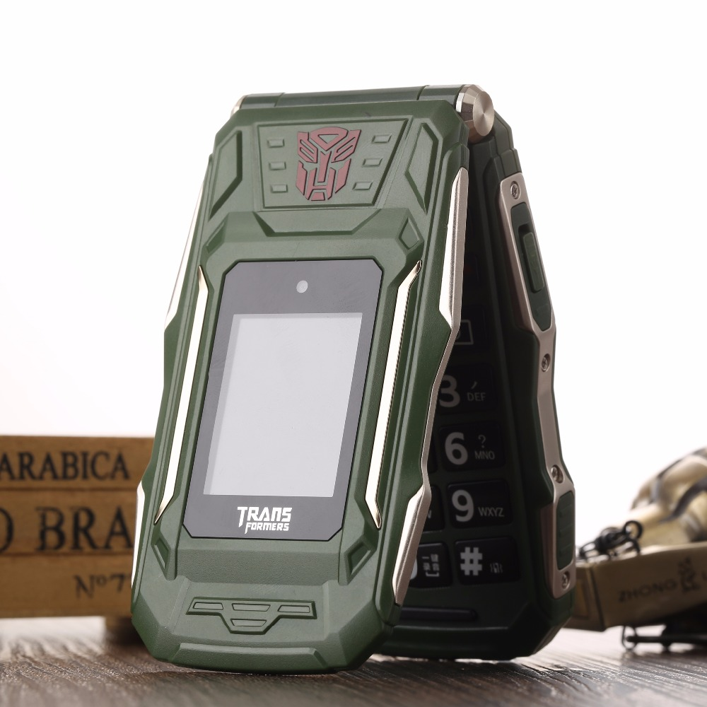 Trans X10 VS X9 Touch Dual Screen Flip Phone <font><b>Power</b></font> Bank Long Standby Flash Light Torch Big Russian Key Rugged Senior Phone P280