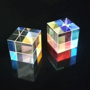 RGB الزجاج المواد أداة اختبار 15*15*15 ملليمتر الزجاج البصري ستة الجانبين المنشور زاوية الحق عدسة البصرية