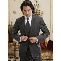 新しい販売衣装オムチャコールグレー新郎スーツ結婚式用男