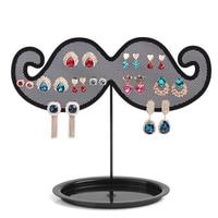 Wholesale Black 2pcs Lot New Hot Fashion Beard Shape Meta Earring Jewelry Frame Display Rack Stand