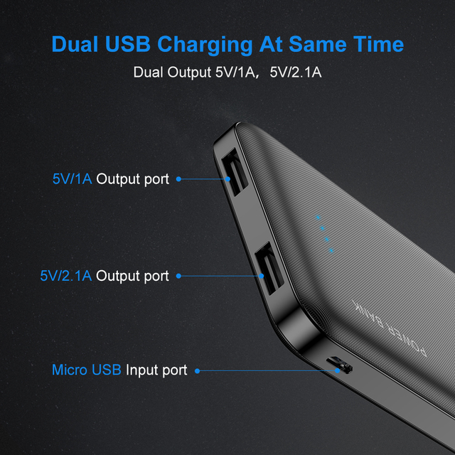 10000 mAh Universal Dual USB Power Bank