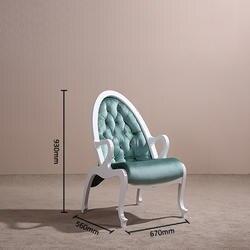 Нуль 2018 модные орехового дерева кожа спинка стулья белый мягкий Краски процесс фланель мебели для гостиной Спальня исследование стул