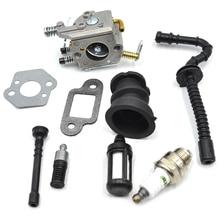 Zama Carburetor Cab Intake Manifold Fuel Gas Oil Filter Hose Line Kit For STIHL 023 025