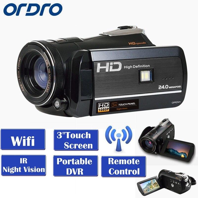 ORDRO HDV-D395 WIFI Full HD 1080P 18X 3.0″ Touch LCD Screen Night Vision Digital Video Camera Recorder Portable DVR