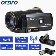 "ORDRO HDV-D395 WIFI Full HD 1080P 18X Three.Zero"" Contact LCD Display Night time Imaginative and prescient Digital Video Digital camera Recorder Moveable DVR"