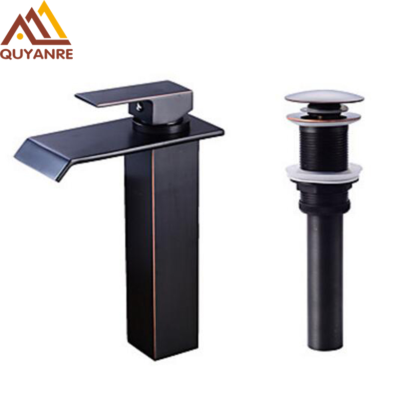 Free shipping tall Classic Black Antique Bathroom Basin Faucet brass bathroom faucets waterfall tap with pop up drain шапочки и чепчики lucky child чепчик классик