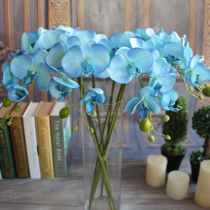 Artificial Flowers Orchid Silk Flowers For Home Decoration Butterfly