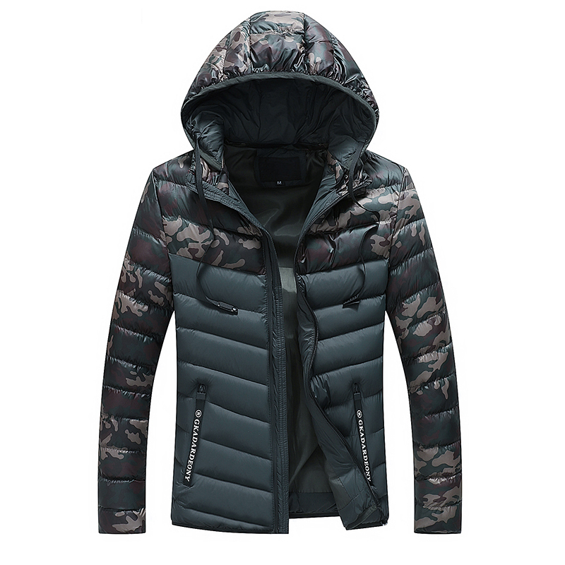 Drop Shipping Men Winter Jacket Hooded Cotton Padded Jackets And Coat Warm Camouflage Military   Parkas   Outwear NXP32