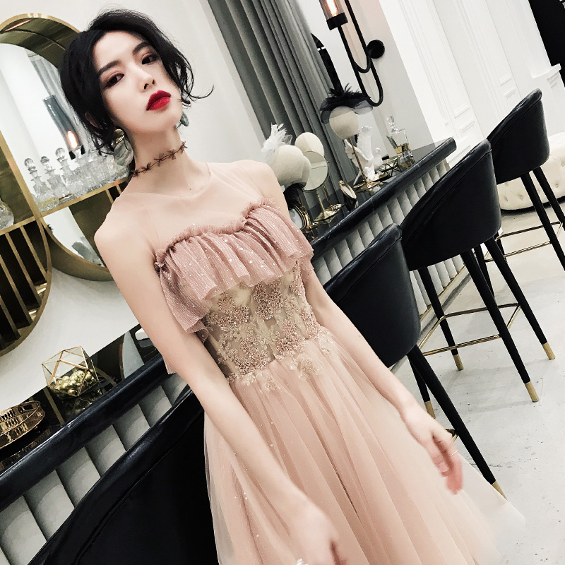 Little women dress party Fairy Fantasy party air Queen Fairy Dress temperament simple and generous strapless sleeveless