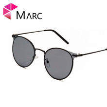MARC Retro Cat Eye Sunglasses Women Luxury Brand Designer Yellow Red Lens Fashion Light Weight Vintage Metal Eyewear