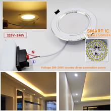 Led Downlight 3W 5W 7W 9W 12W 15W 18W 220V 110V LED Ceiling bathroom Lamps living room light Home Indoor Lighting free shipping