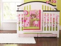 Продвижение! 4 шт. вышитые детская кроватка постельных принадлежностей шпаргалки новорожденный для девочки мальчик мультфильм, Включают ( б