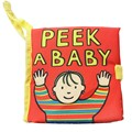 Peek A Baby Activity Book Cartoon Soft Baby Educational Toy Cloth Book Intelligence Developing Toy