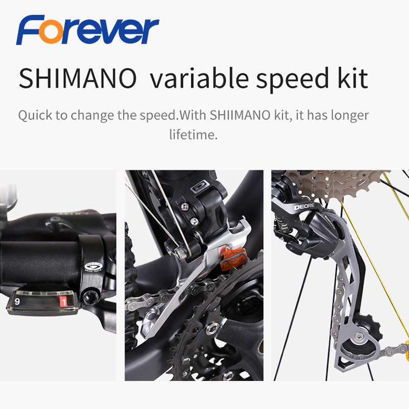 Углеродное волокно горный велосипед 27/30 скоростной внедорожный велосипед 27,5 дюймов с переменной скоростью Передний Задний гидравлический дисковый тормоз MTB велосипед