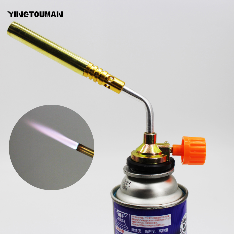 Confident Yingtouman Gas Torch Gas Burner Flame Gun Propan Blower Welding Outdoor Brazing Lighter For Kitchen Removable Blow Lamp Torch Bright And Translucent In Appearance Campcookingsupplies