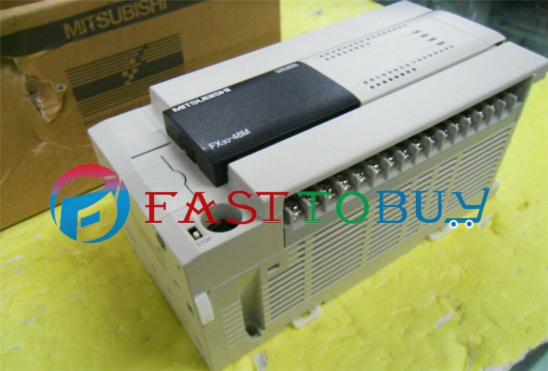 NEW FX3U-48MT-ES-A PLC 100-240V AC 24DI 24DO Transistor Original with Programing Cable One Year Warranty  цены