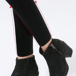 Image 5 - Plus Größe 6XL Frauen Hosen Frühling Fashion Solid Farbe Dünne Hohe Taille Elastische Schwarz Leggings Dame Bleistift Hosen Dünne Hose