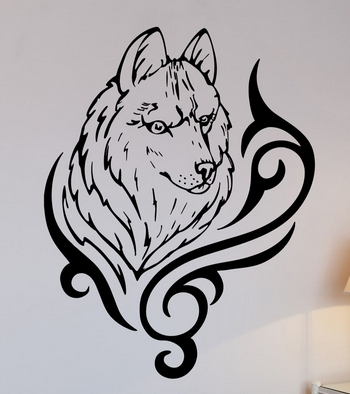Wolf Animal Vinyl Wall Decal <font><b>African</b></font> Animal Predator Tribal Mural Wall Sticker <font><b>Home</b></font> <font><b>Decoration</b></font> Wall Sticker For Bedroom