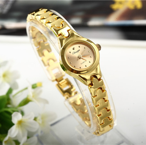 Relojes Gold Plated Women Bracelet Wristwatch Girl Quartz Analog Watch Hour Hot Selling High Quality Wholesale Watches
