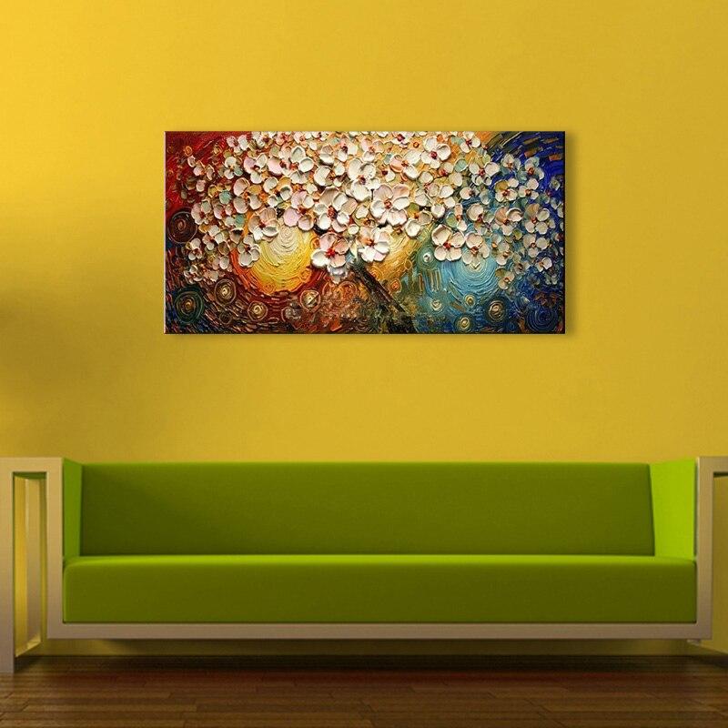 100% Қолмен боялған заманауи гүлдер - Үйдің декоры - фото 5