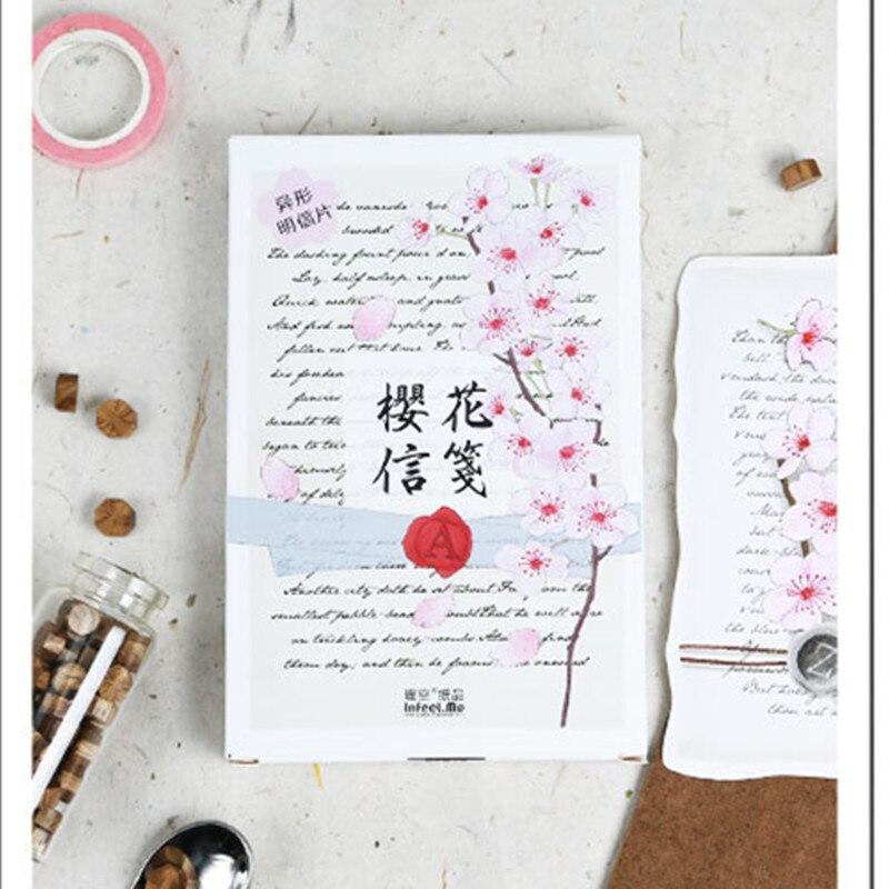 aliexpress  buy infeel sakura memo postcard