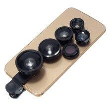 8 en 1 clip en la lente de la cámara kit ojo de pez + gran angular + Macro + Polarizador CPL Universal para todos los Smart Digital Móvil Celular teléfonos