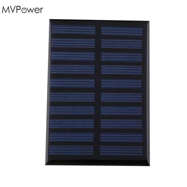 MVPower NEW 5V 0.8W 160mA Solar Panel Battery Solar power Panel Bank charger Module DIY Cell car boat home Portable Power Source