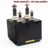 TIANCOOLKEI PJ1 Single ended vacuum tube audio power amplifier 6P1 Collocation 6J1 tube Preamplifier With power supply HIFI amp