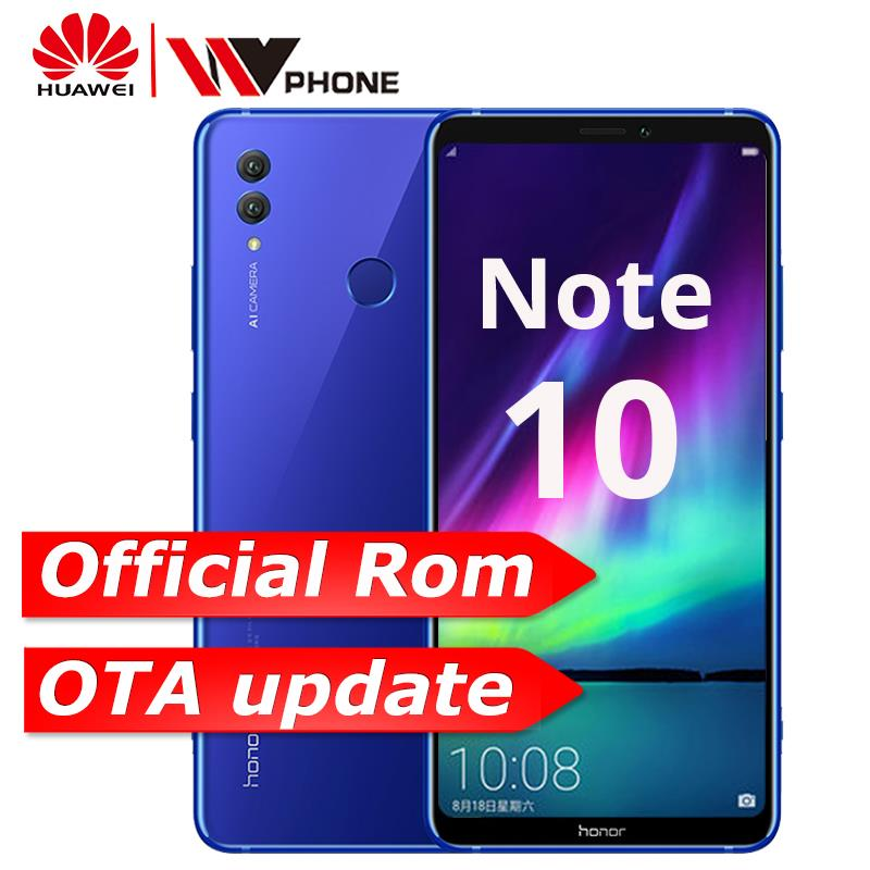 Huawei Honor Примечание 10 Kirin 970 Octa core мобильный телефон Dual SIM 6,95 дюймов Android 8,1 отпечатков пальцев ID NFC 5000 мАч батареи