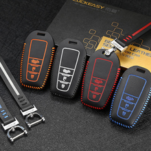 LUCKEASY High Quality Leather Remote Key Case Cover Holder For Toyota Camry 2018 Car Accessories soft tpu car key case cover keychain for toyota avalon 8 camry 2019 levin ioza chr
