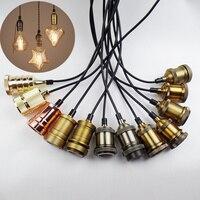 E27 Edison retro base della lampada lampadario FAI DA TE combinazione con interruttore portalampade retro accessori per l'illuminazione