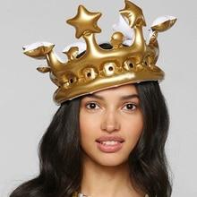 1 шт., надувная корона на заказ, надувная шляпа для праздника/фестиваля, товары для стадиона, реквизит, украшение для детской вечеринки на день рождения