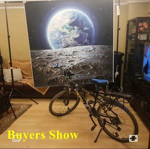 Image 2 - Laeacco Universe Backdrops Space Moon Surface Earth Baby Portrait Photography Backgrounds Birthday Photocall For Photo Studio