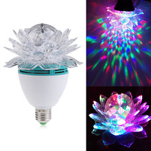 Crystal Magic Ball Stage Light Led E27 RGB Rotating Lamp for Party Disco DJ FG