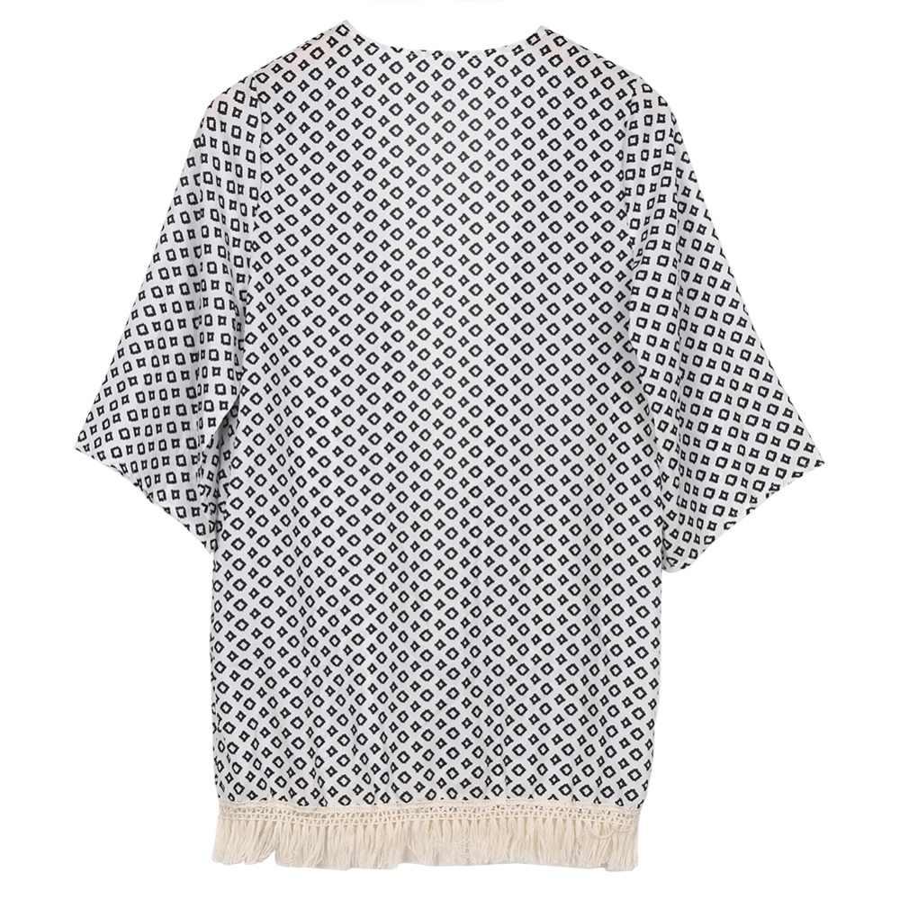 Горячая Распродажа 2019 Новый aririval Для женщин женская блуза Летний шифоновый топ с отложным воротником кардиган-кимоно с принтом модный Z3