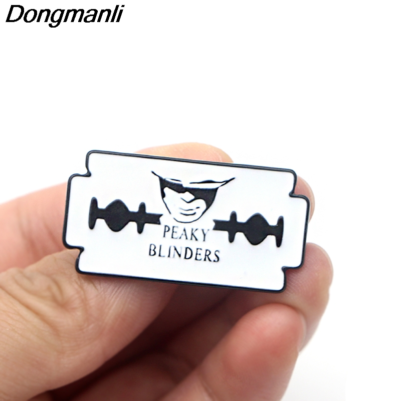 P3842 Dongmanli Peaky Blinders TV Metal Enamel Brooches and Pins Collection Lapel Pin Backpack Badge Collar Jewelry in Brooches from Jewelry Accessories