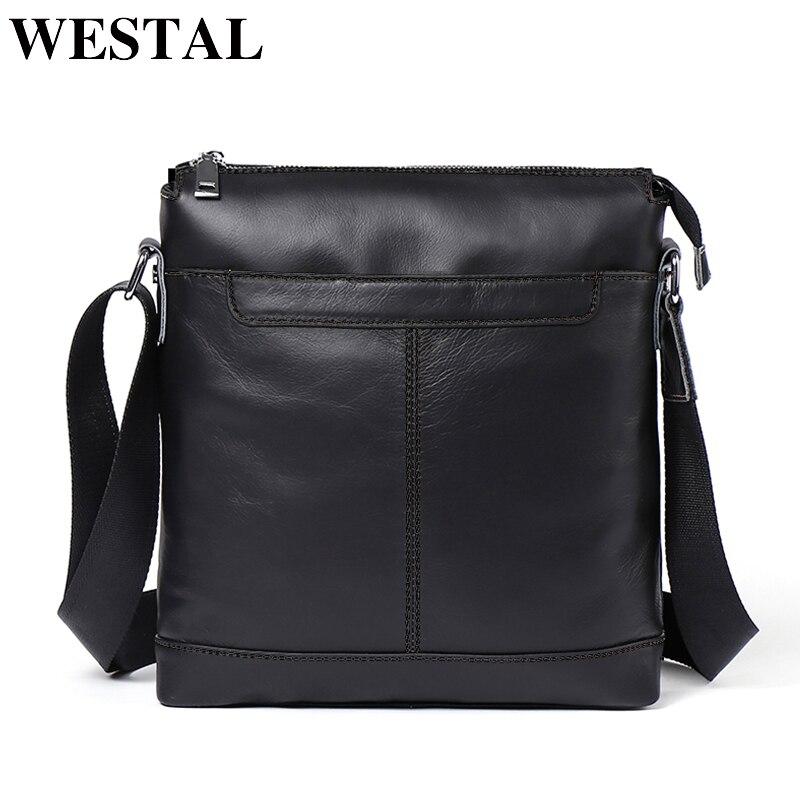 Westal из натуральной кожи Для мужчин сумка Курьерские сумки Для мужчин кожа небольшой лоскут мода молния дизайн мужской плеча crossbody сумки для ...