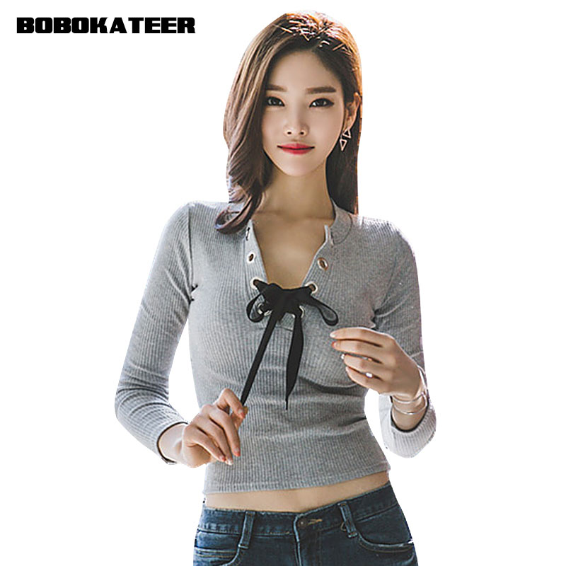buy knitted long sleeve t shirt women t. Black Bedroom Furniture Sets. Home Design Ideas