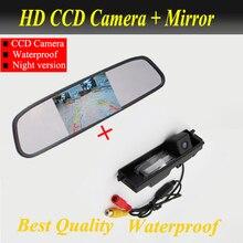 Для TOYOTA RAV4 (2009-2010) Автомобильная камера заднего вида CCD парковка камера + 4.3 дюймовый автомобильное зеркало заднего вида Продвижение завод