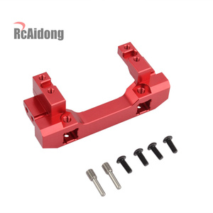 Image 3 - 1/10 RC Alloy Front Servo Stand Rear Bumper Mount For 1:10 RC Crawler Traxxas Trx4 TRX 4 Upgrade Parts