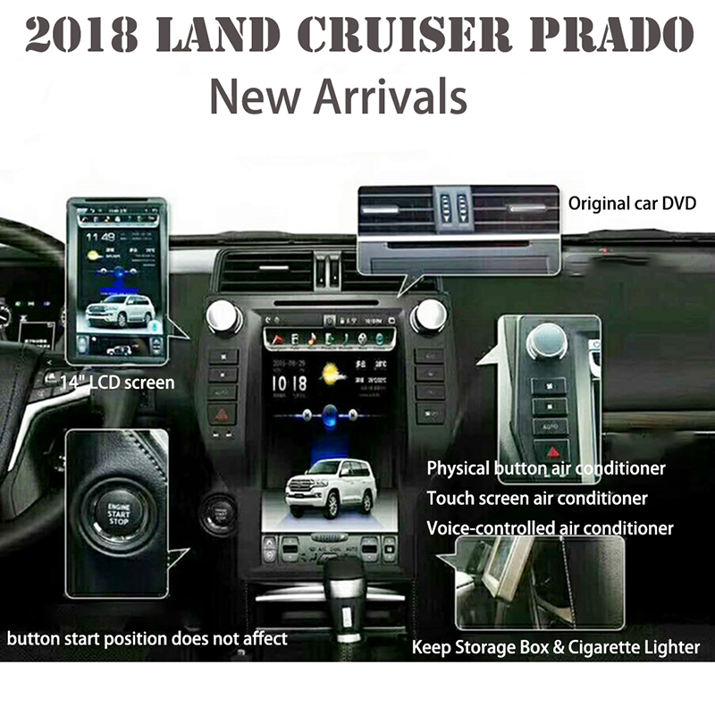 Excellent LiisLee Car Multimedia GPS Hi-Fi Audio Radio Stereo For TOYOTA Land Cruiser Prado J150 LC150 2018 Original Style Navigation NAVI 2