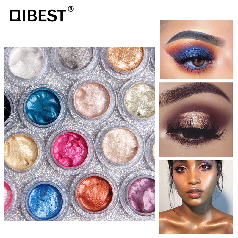 Just Metallic Jelly Eyeshadow Gel Makeup Ultra Shining Eye Face Brighten Colorful Blue Gold Silver Pigments Eyes Shadow 25 Color Reasonable Price Beauty Essentials