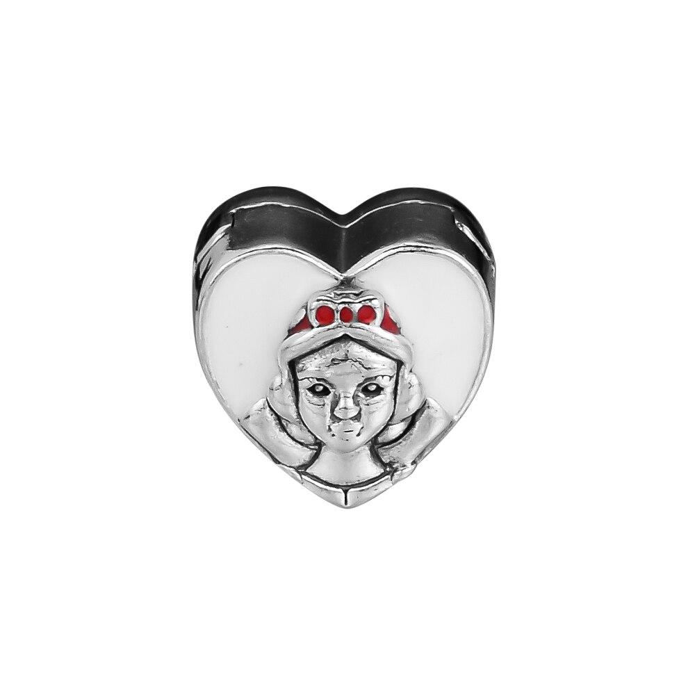 Aggressiv Ckk 925 Sterling Silber Schnee Weiß Porträt Charme, Mixed Emaille Perlen Original Schmuck Herstellung Passend Für Armbänder Starker Widerstand Gegen Hitze Und Starkes Tragen