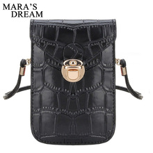 Mara s Dream Women Messenger font b Bags b font Crocodile Grain Leather Shoulder font b