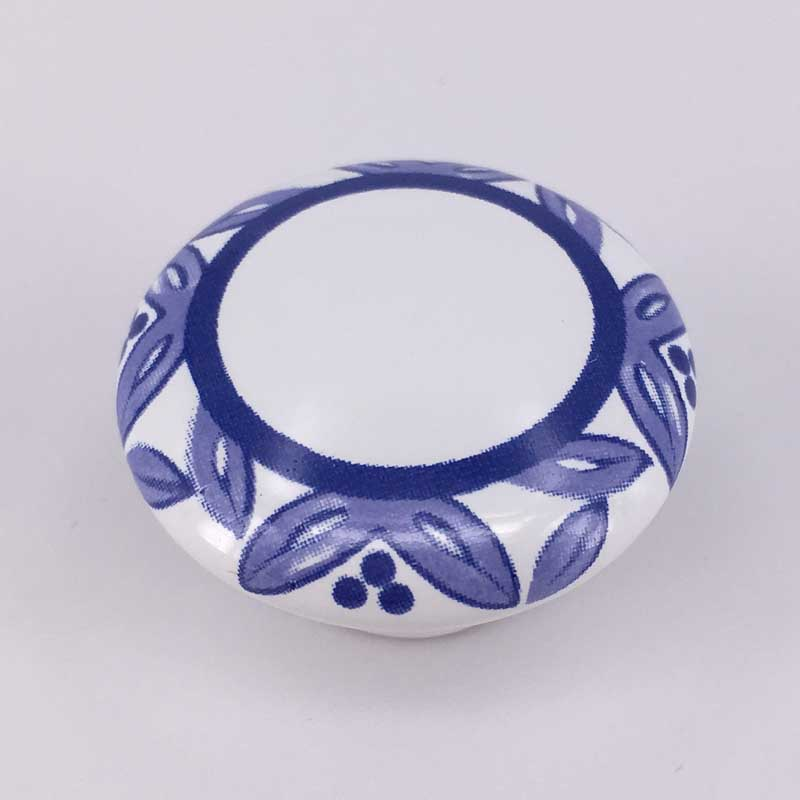 38mm white and blue ceramic furniture knobs porcelain drawer cabinet pulls blue flower ceramic handle blue and white porcelain plum flower bracelet