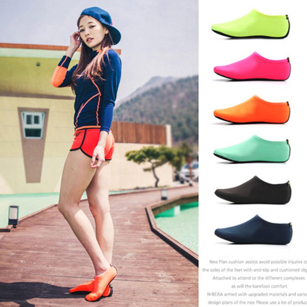1 Pair Summer Beach Scuba   Socks   Non-Slip Barefoot Protector Skin Shoes Women Men Fashion   Socks