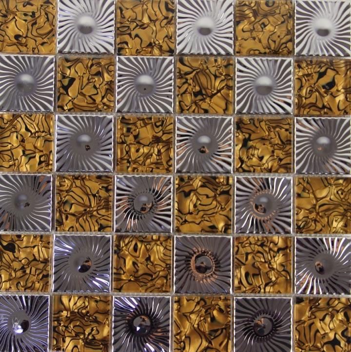 Glass metal mosaics stainless steel tile kitchen bathroom for Tile fashion