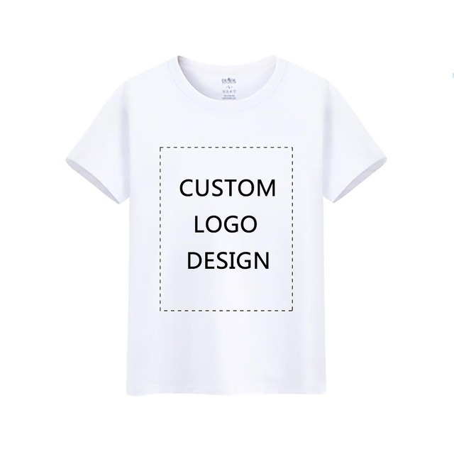 64bcdc55 Custom Made T Shirt Men Summer Short Sleeve Casual Shirts AD Blank White T-Shirt  Design Your Own Logo Personalized Printed Tops