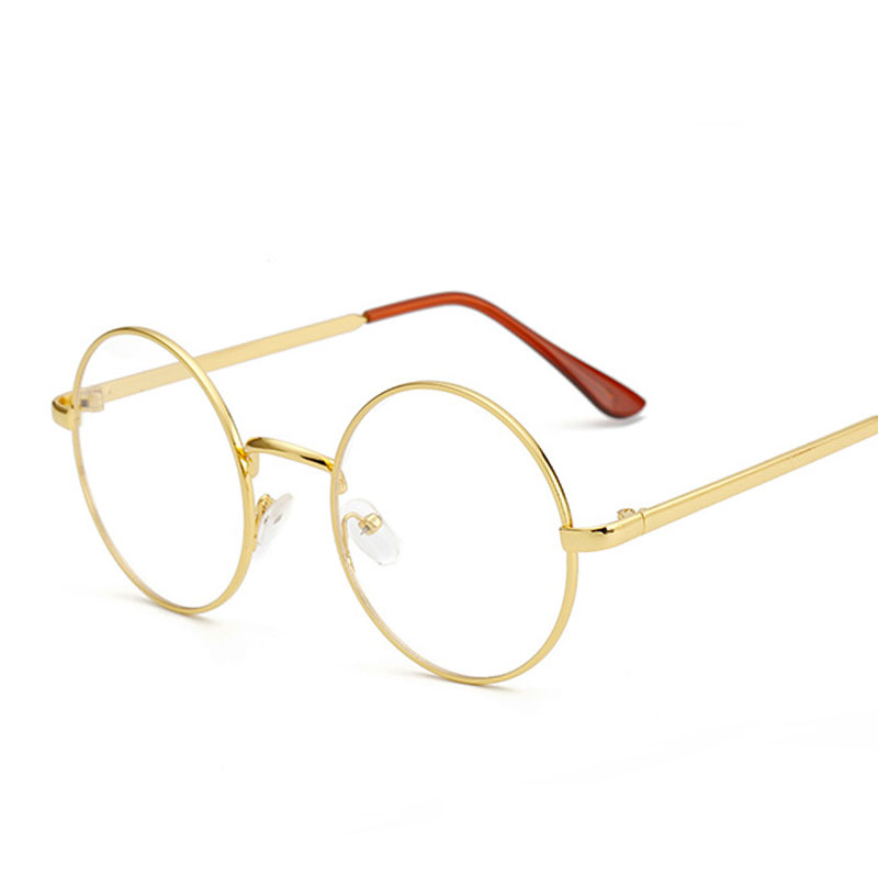 b3576751b1a02 Barato pequeño gafas nerd lente transparente unisex ronda oro metal Marcos  gafas Marcos óptico hombres mujeres anteojos negros Marcos s
