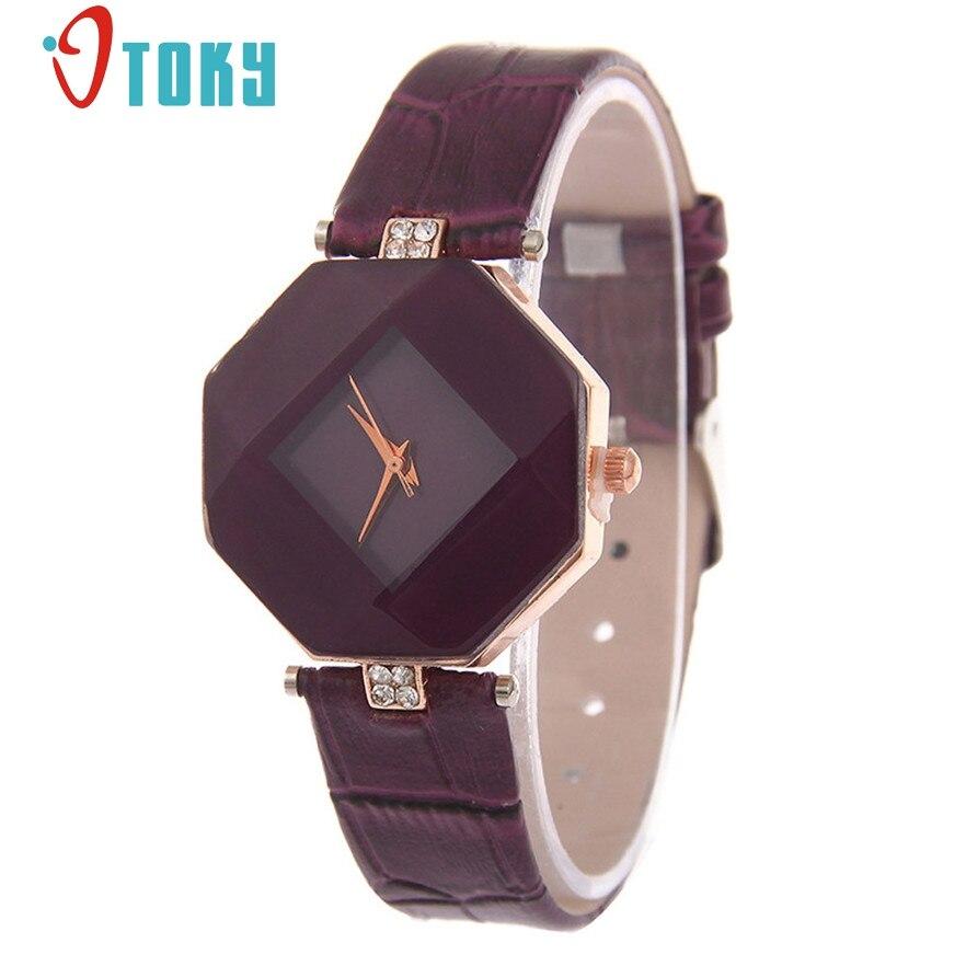 OTOKY relogio feminino reloj mujer Leather Womens Quartz Bracelet Watch Crystal Diamond Wrist Watch #23 2017 Gift 1pcs relogio feminino dourado reloj mujer